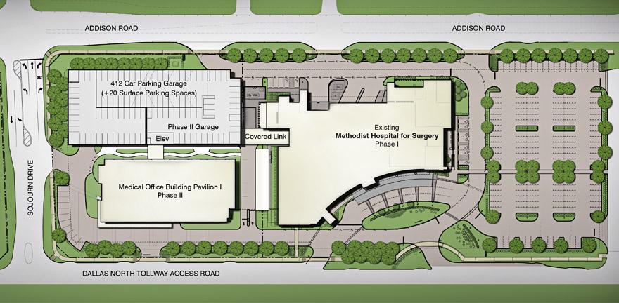 building site plan Siteplan « Methodist Medical Office Building Pavilion 1